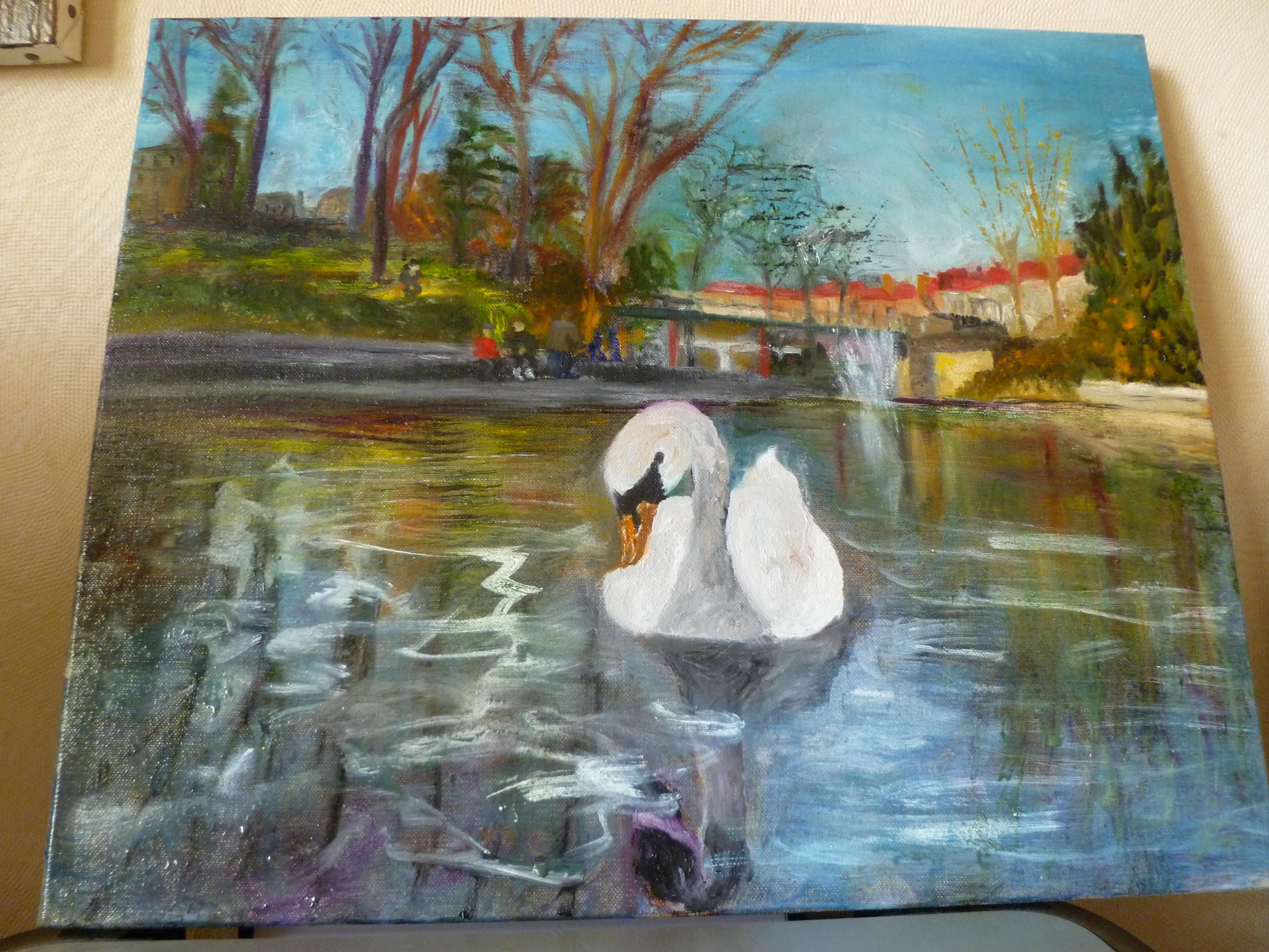 Peindre les transparences et reflets dans l eau artiste - Peindre sur de la peinture brillante ...